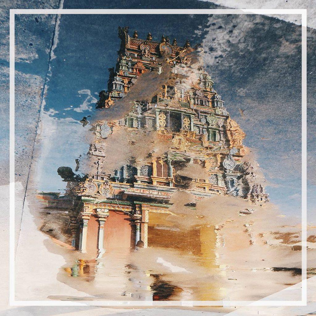 Jouer avec les reflets    temple templehindou shivahellip